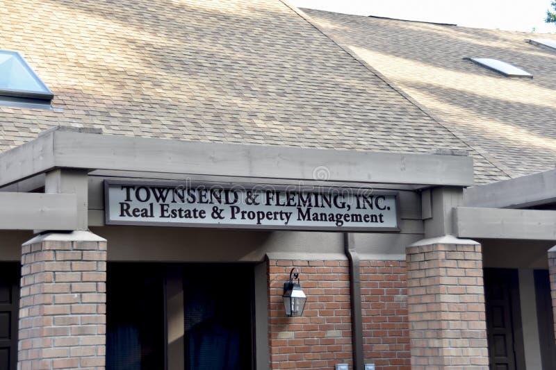 Townsend och Fleming Realty, Memphis, TN arkivbilder