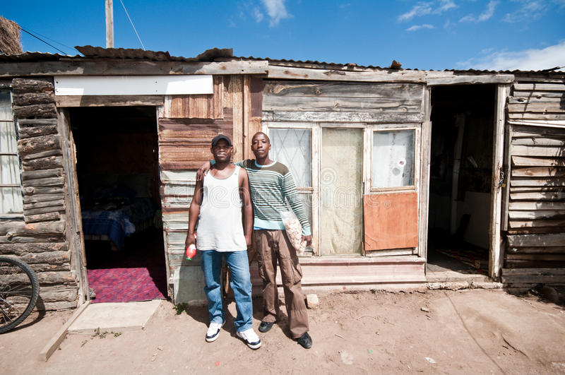 Township's life, South Africa royalty free stock photo