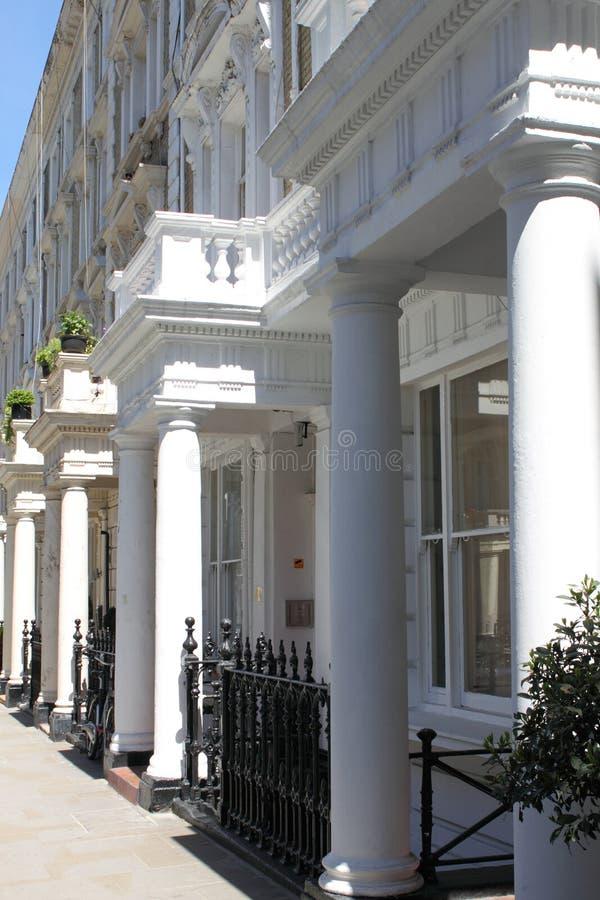 Townshouses a Londra fotografia stock libera da diritti