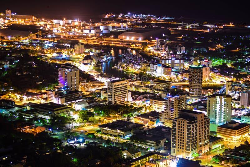 Townsville di notte fotografia stock libera da diritti
