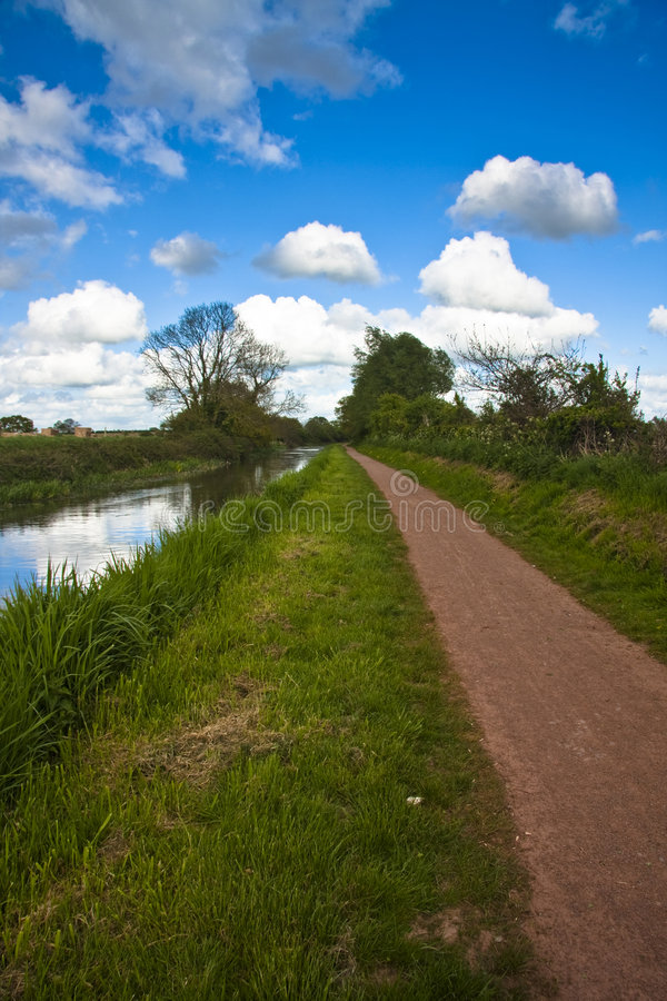 Towpath. The Bridgwater and Taunton Canal - Opened in 1827 royalty free stock image