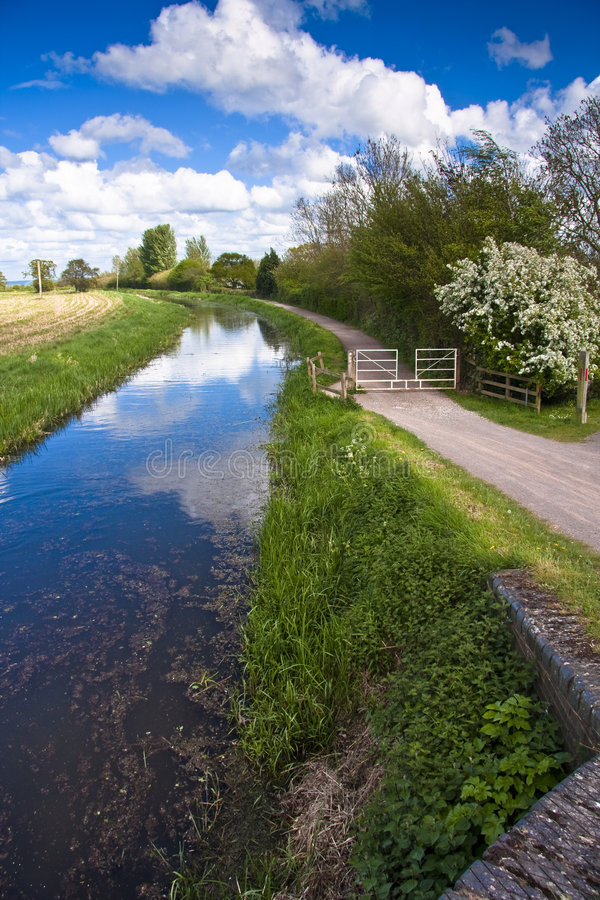 Towpath. The Bridgwater and Taunton Canal - Opened in 1827 stock photography
