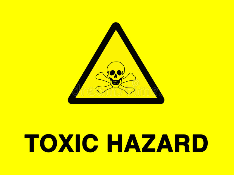 toxic знака риска иллюстрация вектора
