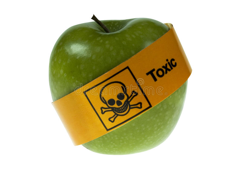 Toxic apple royalty free stock photo