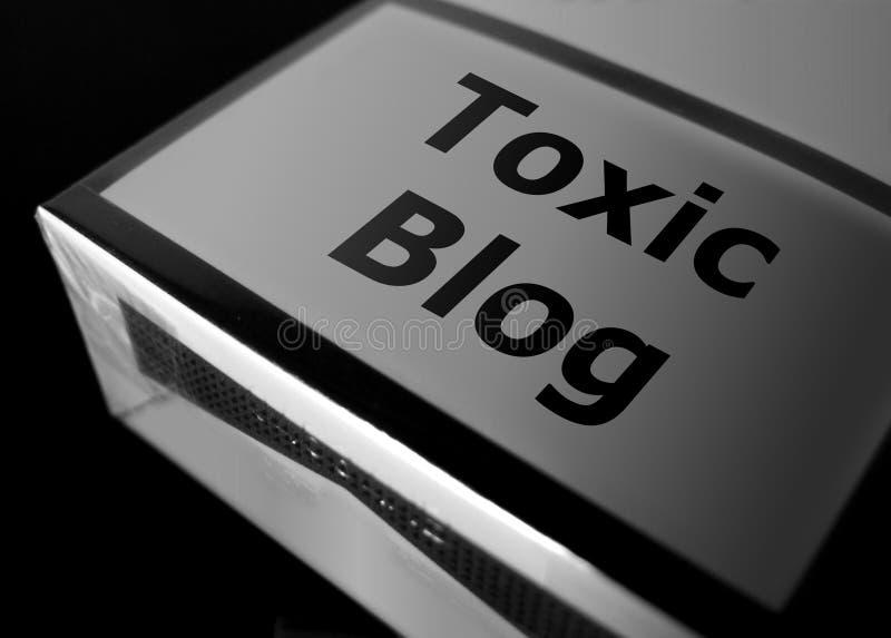Toxic blog stock photo