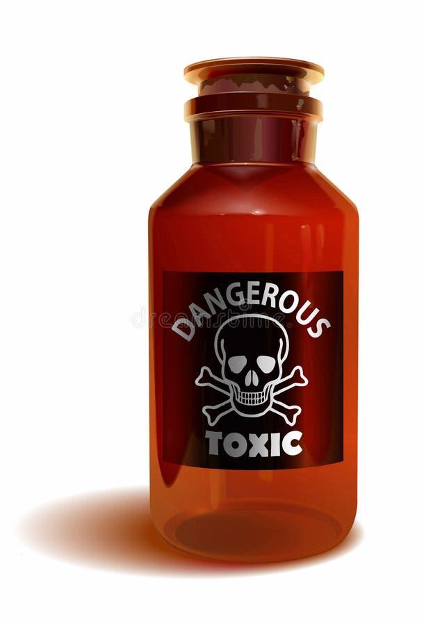 Toxic bottle royalty free illustration