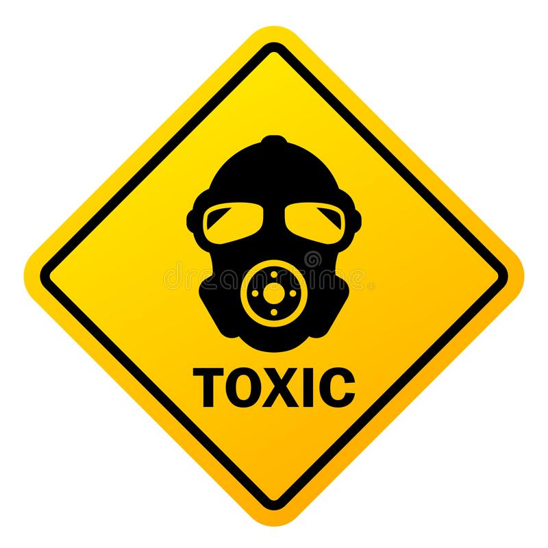 Free Toxic Danger Vector Sign Royalty Free Stock Image - 144839886