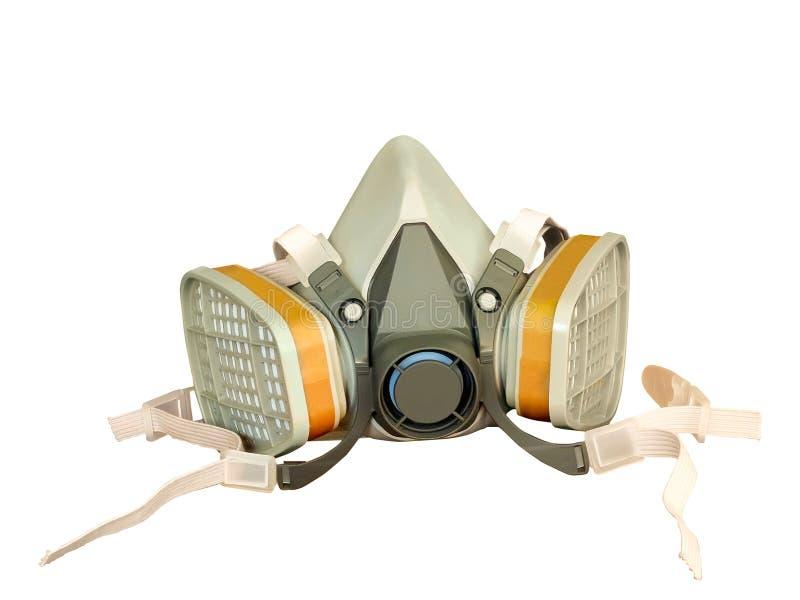 Toxic dust respirator. Isolated on white background stock image