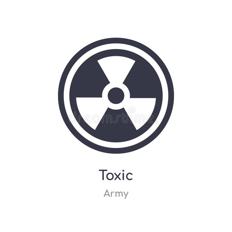 toxic icon. isolated toxic icon vector illustration from army collection. editable sing symbol can be use for web site and mobile royalty free illustration