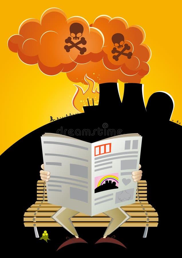 Toxic industrial pollution vector illustration