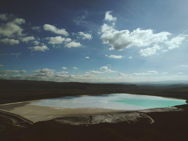 A toxic lake. One beautiful but toxic lake royalty free stock image