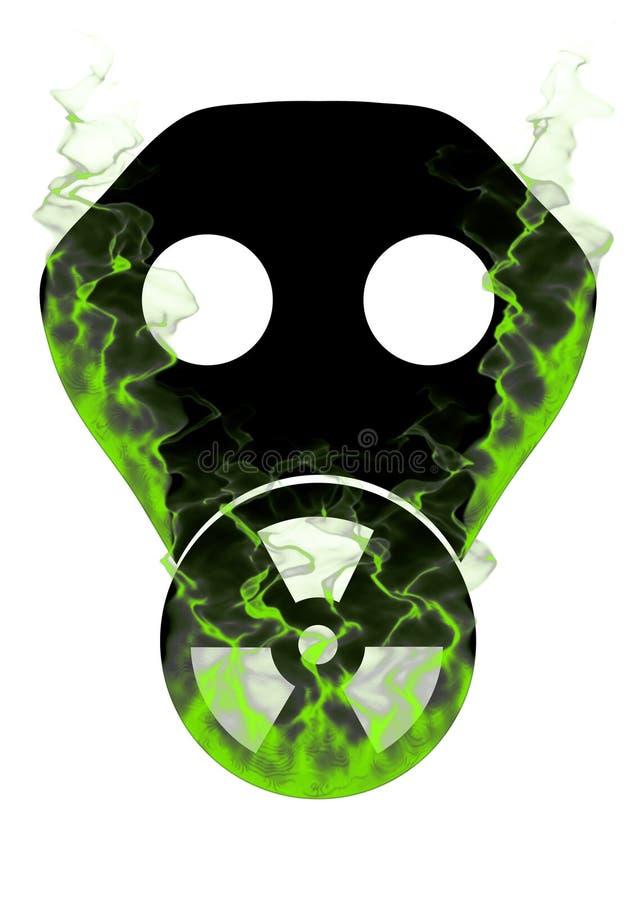 Toxic Mask And Smoke Royalty Free Stock Photography