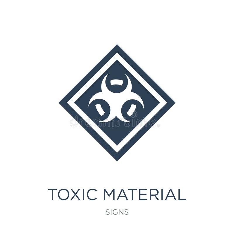 toxic material icon in trendy design style. toxic material icon isolated on white background. toxic material vector icon simple stock illustration