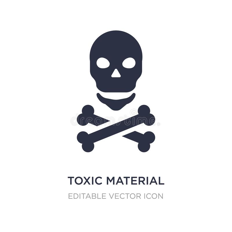 toxic material icon on white background. Simple element illustration from Signs concept vector illustration