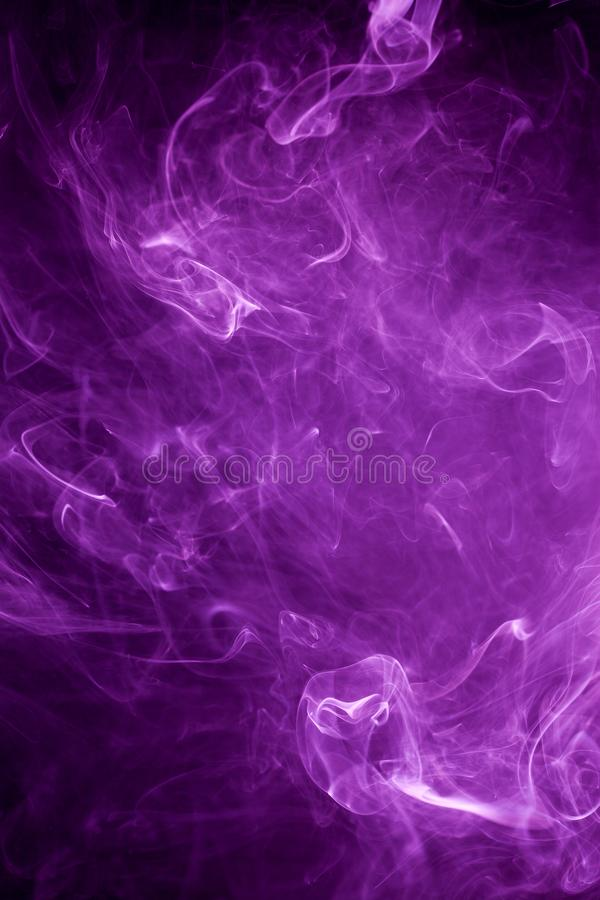 Toxic purple smoke stock photos
