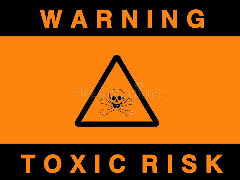 Toxic risk sign royalty free illustration