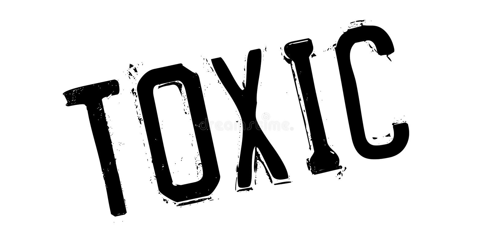 Toxic rubber stamp. Grunge design with dust scratches. Effects can be easily removed for a clean, crisp look. Color is easily changed vector illustration