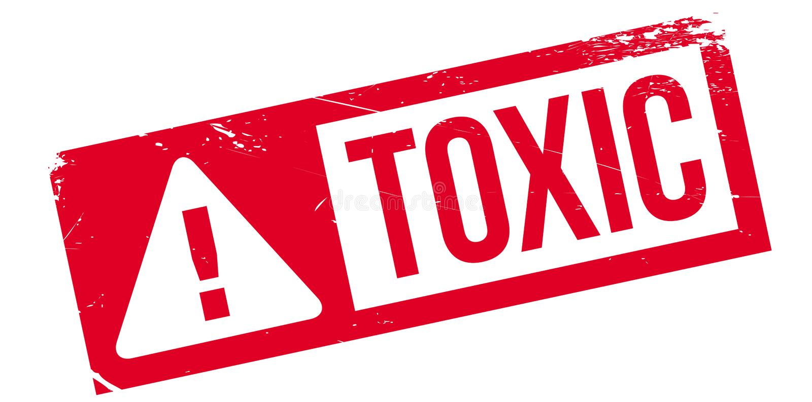 Toxic rubber stamp. Grunge design with dust scratches. Effects can be easily removed for a clean, crisp look. Color is easily changed stock illustration