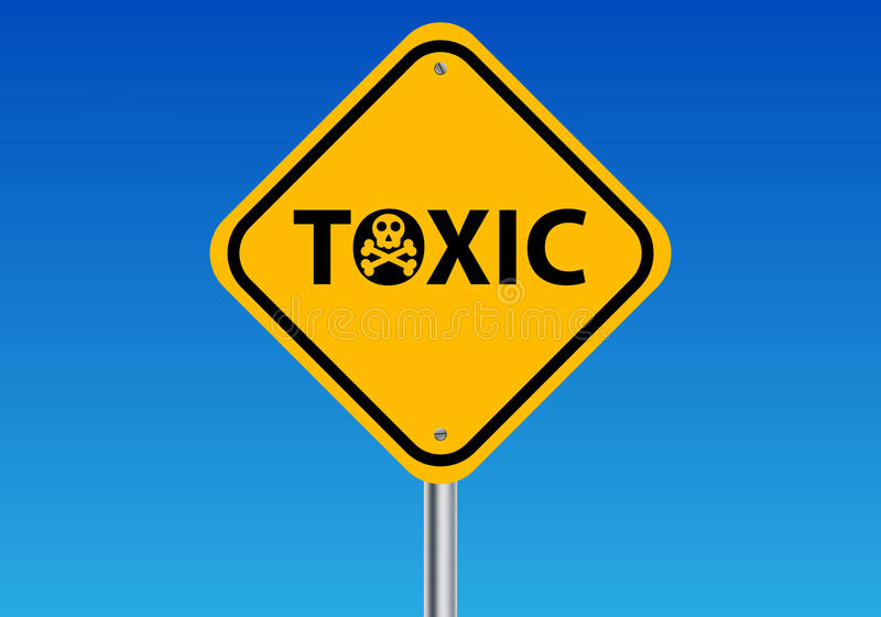 Toxic Sign royalty free illustration
