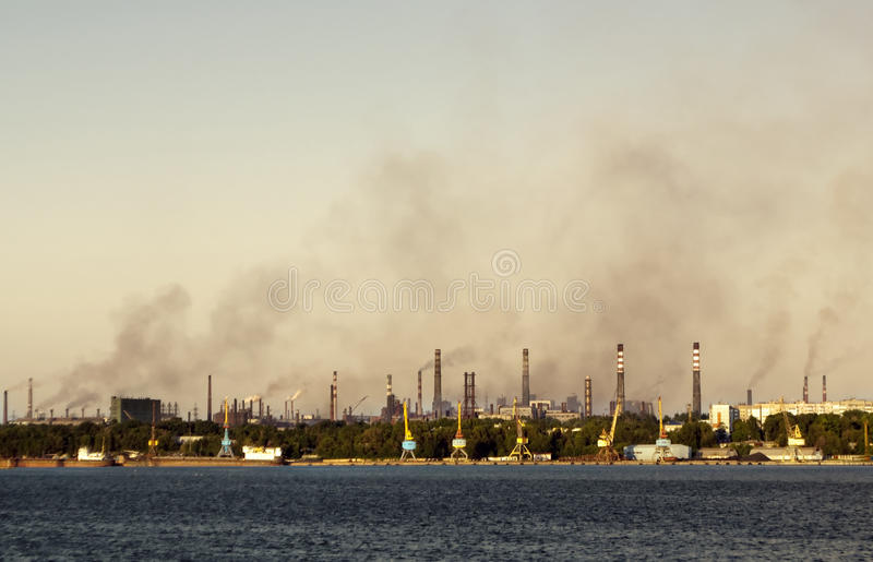 Download Toxic smoke over the town stock photo. Image of blue - 14811654
