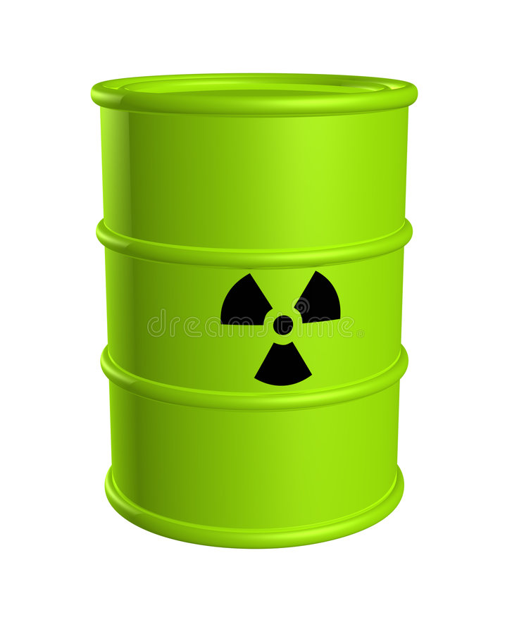 Free Toxic Waste Barrel Radiation Royalty Free Stock Photos - 5859838