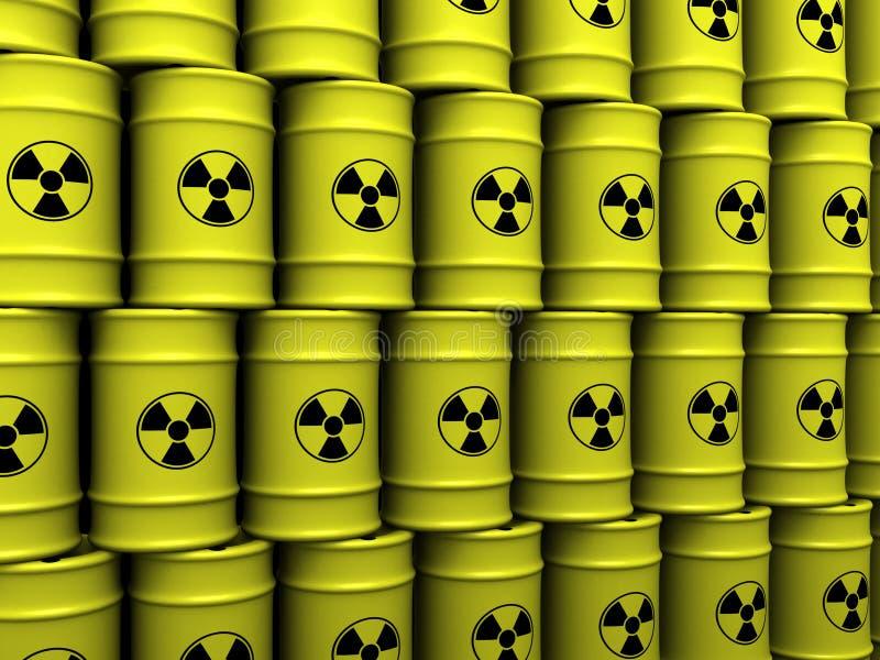 Toxic waste barrels royalty free illustration