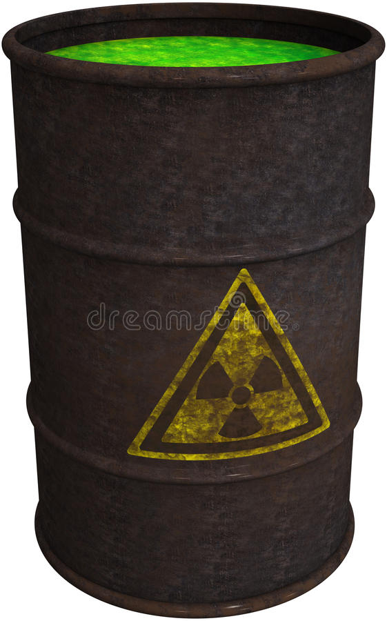 Toxic Waste, Chemical Spill, Isolated royalty free illustration