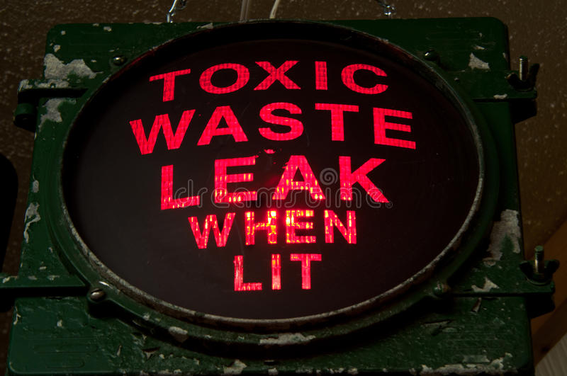 Toxic Waste. Leak Warning Light stock photography