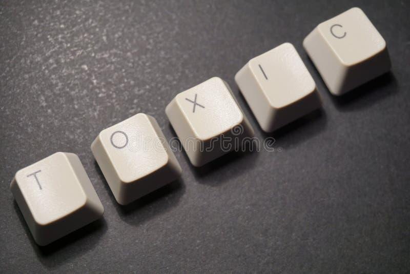 Toxic. Words keyboard letters on black background message text illustrations pedro jose pelaez pedryj royalty free stock photo