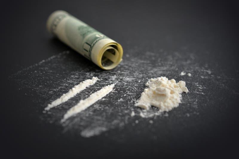 Toxicomanie de cocaïne photographie stock libre de droits