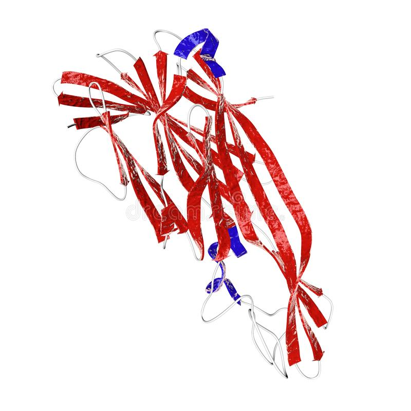 Toxina del delta producida por el clostridium perfringens de la bacteria ilustración del vector