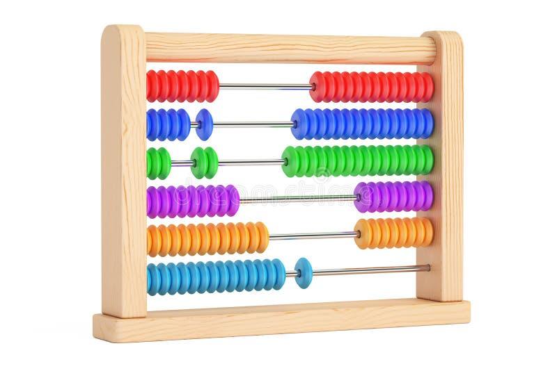 Toy Abacus, het 3D teruggeven vector illustratie