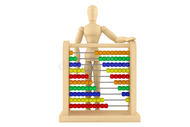 Download Toy Abacus With Wooden Dummy Stock Illustration - Illustration of business, artist: 26145984
