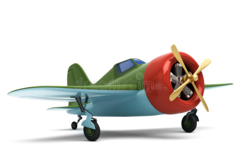 Toy airplane stock illustration