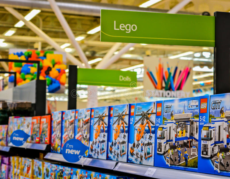 Toy Aisle. A picture of the toy aisle in a toy store royalty free stock photography