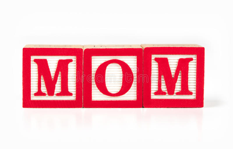 Download Toy Alphabet Blocks Spelling MOM Stock Photos - Image: 33754963