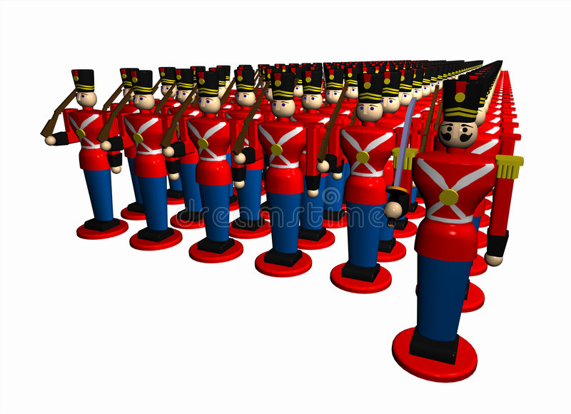 Download Toy_army_02 stock illustration. Image of group, cadet - 3374742