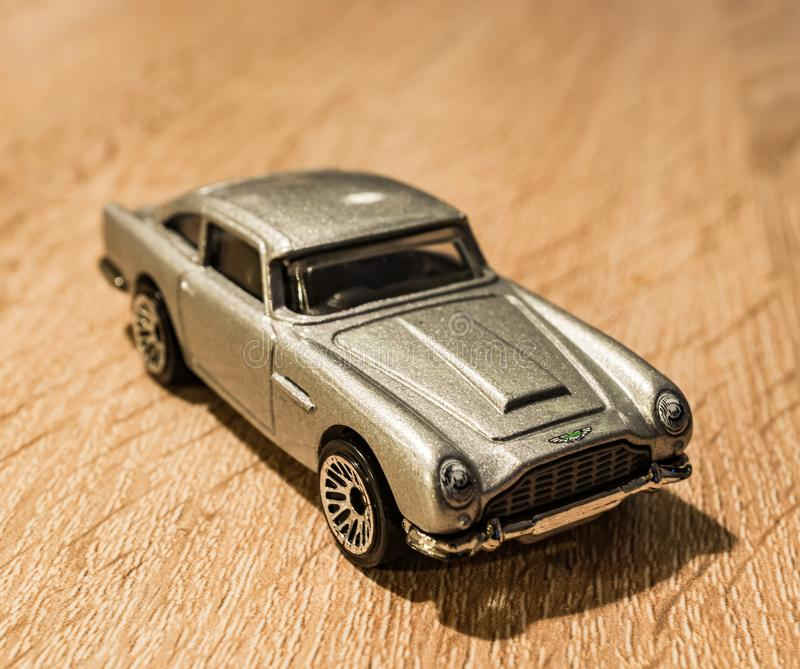 Download Toy Aston Martin foto de stock editorial. Imagem de temporizador - 107529388