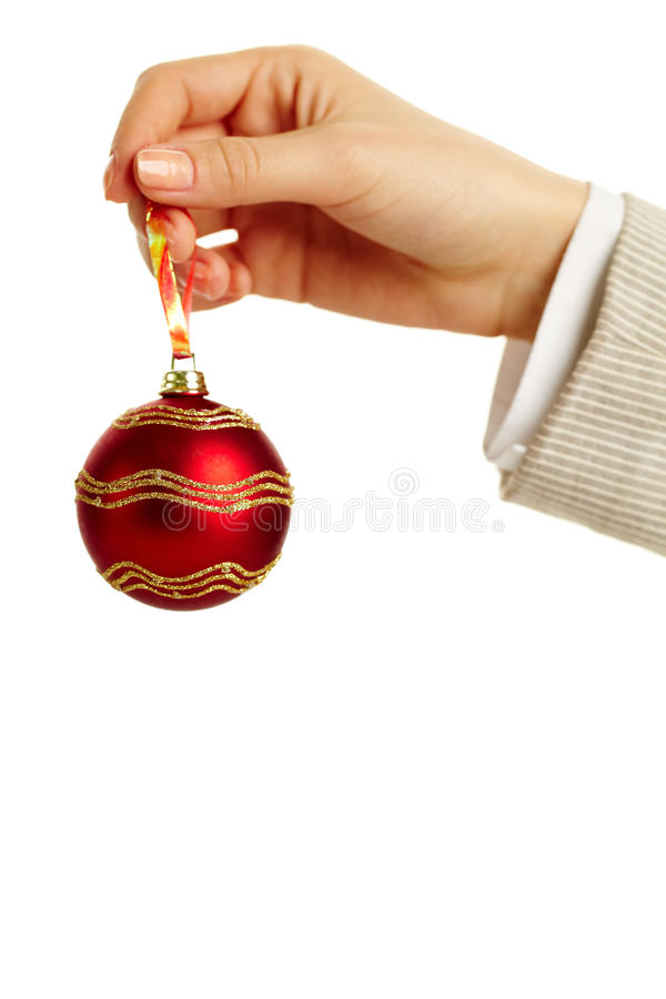 Download Toy ball in hand stock photo. Image of female, decorative - 24739392