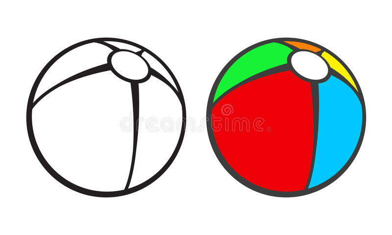 Download Toy Beach Ball For Coloring Book Isolated On Stock Vector