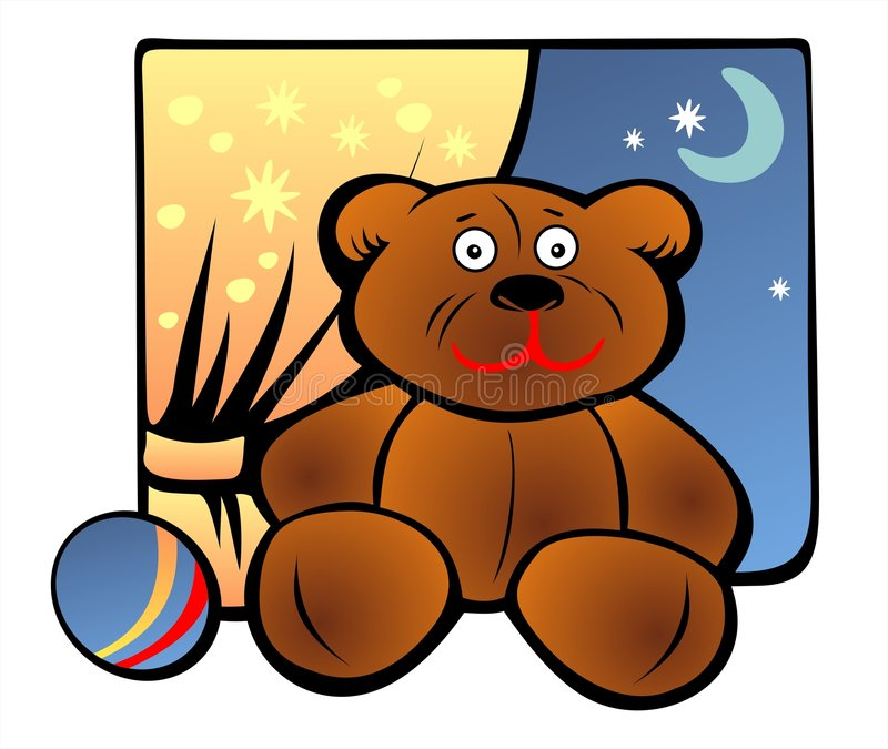 Download Toy Bear And Ball Stock Image - Image: 3323451