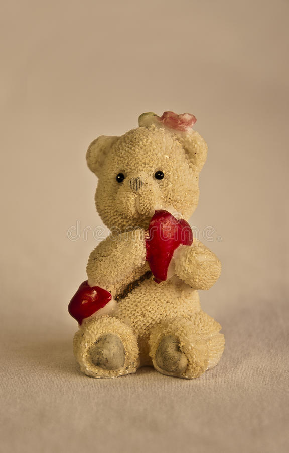 A Toy Bear With Heart royalty free stock image