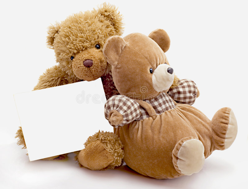 Toy bears royalty free stock image