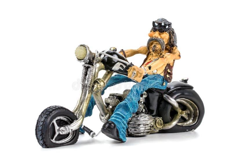 Toy bike on white background.  stock photo