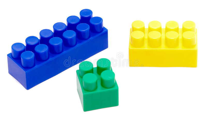 Toy block. Color toy block isolated on white royalty free stock photo