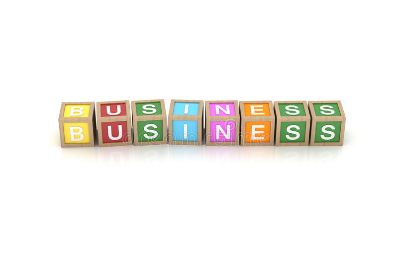 Download Toy Block With Business Word Stock Illustration - Image: 25873926