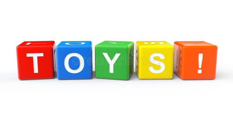 Toy Blocks com sinal dos brinquedos ilustração do vetor
