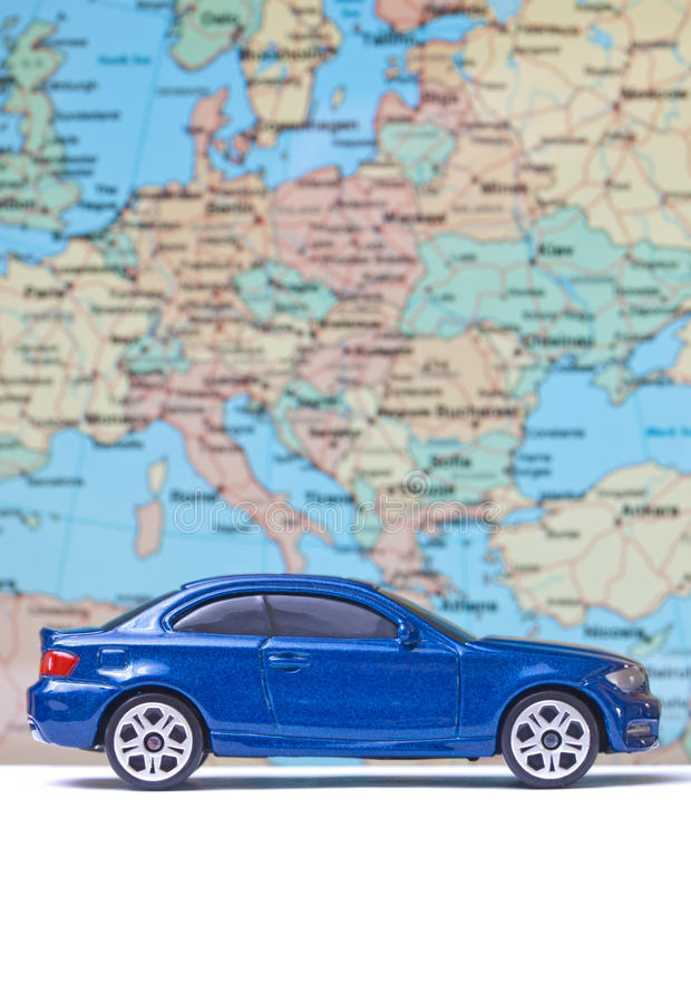 Download Toy blue car on vacation stock photo. Image of roadway - 24509024