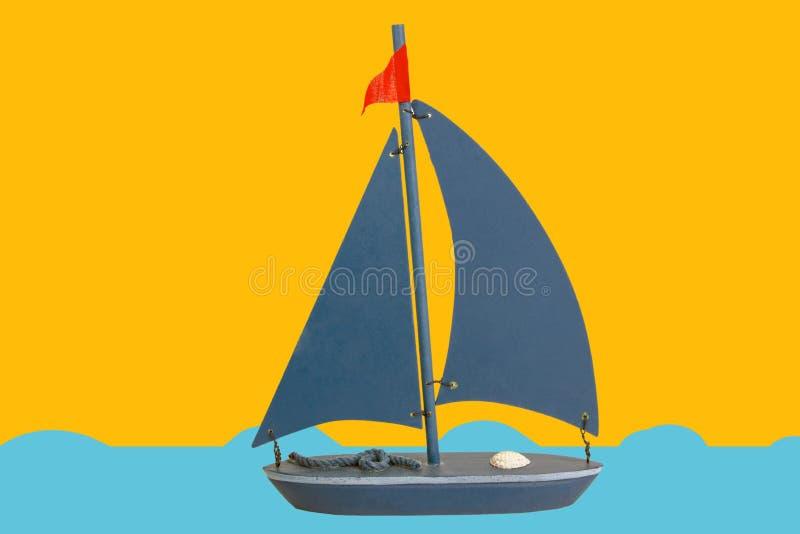 Toy Boat décoratif photo libre de droits