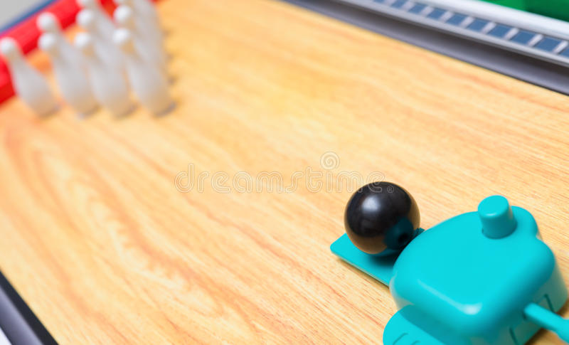 Toy bowling set. For kid royalty free stock image